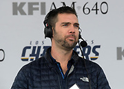 Dec 31, 2017; Carson, CA, USA; KFI AM-640 radio broadcaster Kris Ankarlo during an NFL football game between the Los Angeles Chargers and the Oakland Raiders at StubHub Center.