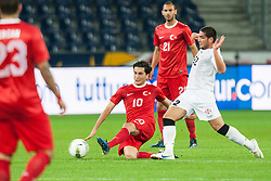 24.05.2012, Red Bull Arena, Salzburg, AUT, SLFC Summerleague, Tuerkei vs Georgien, im Bild Nuri Sahin, (TUR, #10), Murtaz Davshvili, (GEO, #22) // Nuri Sahin, (TUR, #10), Murtaz Davshvili, (GEO, #22) during friendly Football Match between the Nationateams of Turkey and Georgia at the Red Bull Arena, Salzburg, Austria on 2012/05/24. EXPA Pictures © 2012, PhotoCredit: EXPA/ Juergen Feichter