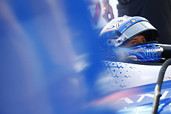 April 13, 2018 - Long Beach, California, United States of America - April 13, 2018 - Long Beach, California, USA: Scott Dixon (9) sits in his car on pit road while his team makes adjustments during practice for the Toyota Grand Prix of Long Beach at Streets of Long Beach in Long Beach, California. (Credit Image: © Justin R. Noe Asp Inc/ASP via ZUMA Wire)