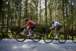 Gillian Ellsay (CAN) in the woods during Ladies Tour of Norway 2019 - Stage 4, a 154 km road race from Svinesund to Halden, Norway on August 25, 2019. Photo by Sean Robinson/velofocus.com