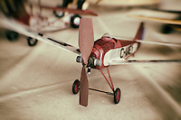 Toy model plane from the Old Rhinebeck Aerodrome model airplane museum.