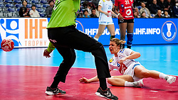 08-12-2019 JAP: Angola - France, Kumamoto<br /> First round President's Cup match Angola - France (17-28) at 24th IHF Women's Handball World Championship. / Chloe Bouquet #6 of France