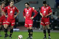 Fotball, 17. april 2005, Tippeligaen, Vålerenga - Brann 2-1, Bengt Sæternes, Martin Andresen og Paul Scharner , Brann
