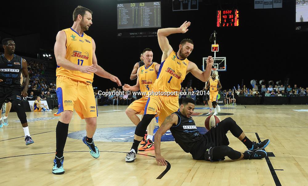 Corey Webster. SkyCity Breakers v Adelaide 36ers. 2014/15 ANBL Basketball Season. Vector Arena, Auckland, New Zealand. Friday 17 October 2014. Photo: Andrew Cornaga / www.photosport.co.nz