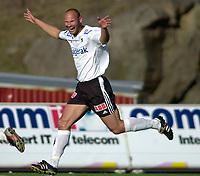 Bærum 21042003 Eliteserien i fotball Stabæk - Odd. Edwin Van Ankeren, Odd jubler etter 1-0.<br /> <br /> Foto: Andreas Fadum, Digitalsport