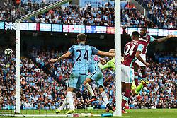 Michail Antonio of West Ham United scores his sides first goal   - Mandatory by-line: Matt McNulty/JMP - 28/08/2016 - FOOTBALL - Etihad Stadium - Manchester, England - Manchester City v West Ham United - Premier League