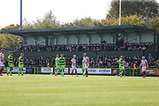 The new away stand during the EFL Sky Bet League 2 match between Forest Green Rovers and Cheltenham Town at the New Lawn, Forest Green, United Kingdom on 20 October 2018.
