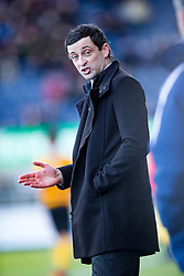 Alloa Athletic's manager Jack Ross. <br /> Falkirk 2 v 0 Alloa Athletic, Scottish Championship game played 5/3/2016 at The Falkirk Stadium.