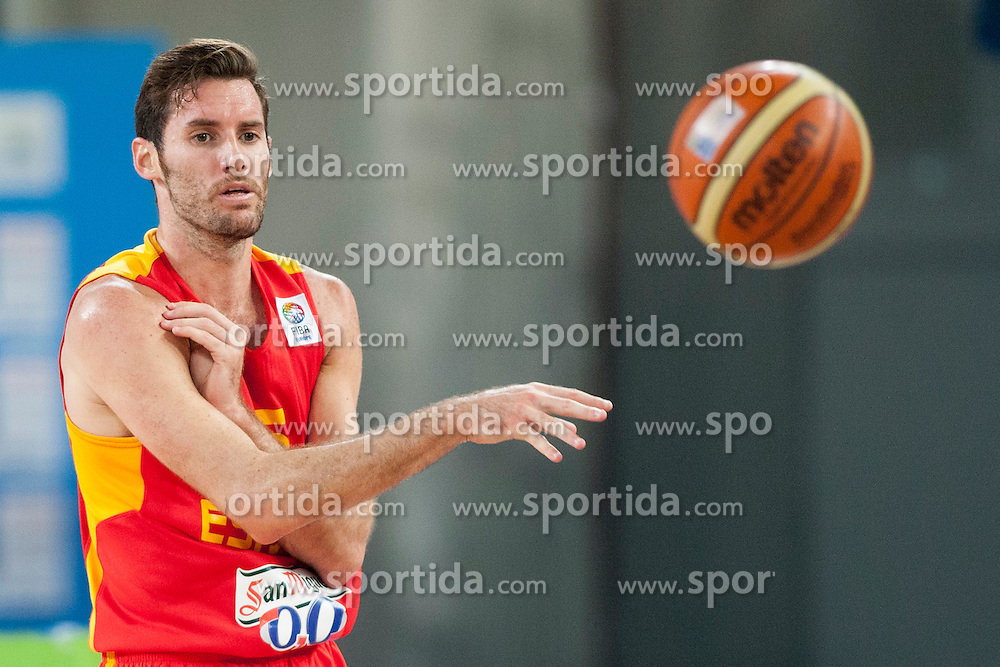 Alex Mumbru #15 of Spain during basketball match between National teams of Serbia and Spain in Quarterfinal at Day 15 of Eurobasket 2013 on September 18, 2013 in SRC Stozice, Ljubljana, Slovenia. (Photo By Urban Urbanc / Sportida)