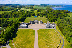 Aerial view of Hopetoun House near South Queensferry in West Lothian, Scotland, UK