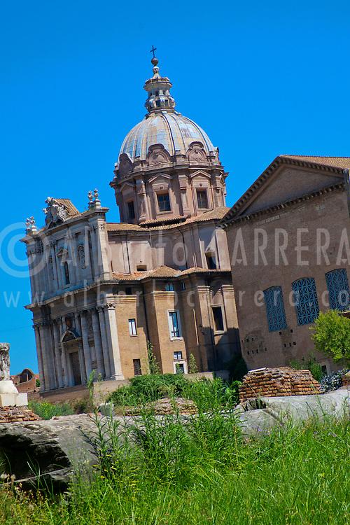 Alberto Carrera, Roman Forum and Church of Santi Luca e Martina, Foro Romano, World Heritage Site, Rome, Lazio, Italy, Europe