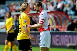 16-05-2010 VOETBAL: FC UTRECHT - RODA JC: UTRECHT<br /> FC Utrecht verslaat Roda in de finale van de Play-offs met 4-1 en gaat Europa in / Ruud Vormer en Michael Silberbauer<br /> ©2010-WWW.FOTOHOOGENDOORN.NL