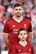 May 24, 2017: Liverpool FC player Steven Gerrard (8) just before kick-off at the soccer match, between English Premiere League team Liverpool FC and Sydney FC, played at ANZ Stadium in Sydney, NSW Australia.