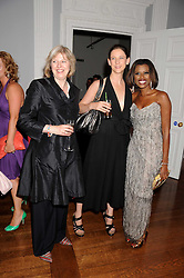 Left to right, THERESA MAY MP, MARIA GRACHVOGEL and JUNE SARPONG at the launch of Politics and The City - a new web site for women fusing politics with gossip, entertainment, news and fashion, held at the ICA, 12 Carlton House Terrace, London on 8th July 2008.<br />