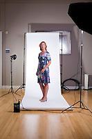 Portret van Ingrid de Caluw&eacute;, Tweede Kamerlid en woordvoerder ontwikkelingssamenwerking van de VVD.<br /> Foto: Phil Nijhuis