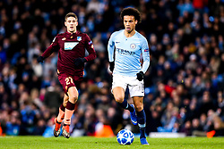 Leroy Sane of Manchester City goes past Andrej Kramaric of Hoffenheim - Mandatory by-line: Robbie Stephenson/JMP - 12/12/2018 - FOOTBALL - Etihad Stadium - Manchester, England - Manchester City v Hoffenheim - UEFA Champions League Group stage