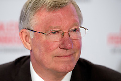 © London News Pictures. 22/10/2013 . London, UK. Former Manchester United manager SIR ALEX FERGUSON  at a press conference in central London held ahead of the publication of his autobiography titled 'SIR ALEX FERGUSON - MY AUTOBIOGRAPHY' on October 24. Photo credit : Ben Cawthra/LNP