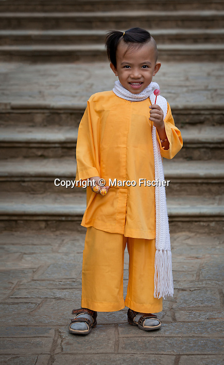 Young vietnamese monk