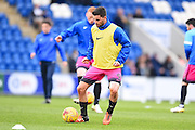 Hartlepool player Padraig Amond  warms up during the EFL Sky Bet League 2 match between Colchester United and Hartlepool United at the Weston Homes Community Stadium, Colchester, England on 25 February 2017. Photo by Ian  Muir.