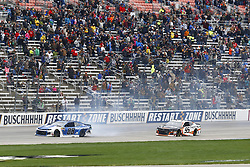 April 8, 2018 - Ft. Worth, Texas, United States of America - April 08, 2018 - Ft. Worth, Texas, USA: Alex Bowman (88) wrecks to bring out a caution during the O'Reilly Auto Parts 500 at Texas Motor Speedway in Ft. Worth, Texas. (Credit Image: © Chris Owens Asp Inc/ASP via ZUMA Wire)
