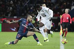 January 27, 2019 - Paris, Ile de France, France - Daniel Alves da Silva (PSG), Ismaila SARR  (Credit Image: © Panoramic via ZUMA Press)