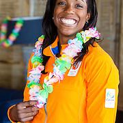 NLD/Scheveningen/20160713 - Perspresentatie judoka's voor de Olympische Spelen 2016 in Rio de Janeiro, Anicka van Emden