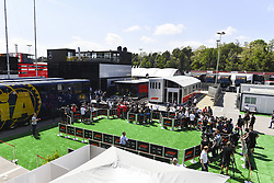 May 9, 2019 - Espagne - Overhead of the media pen in the paddock (Credit Image: © Panoramic via ZUMA Press)