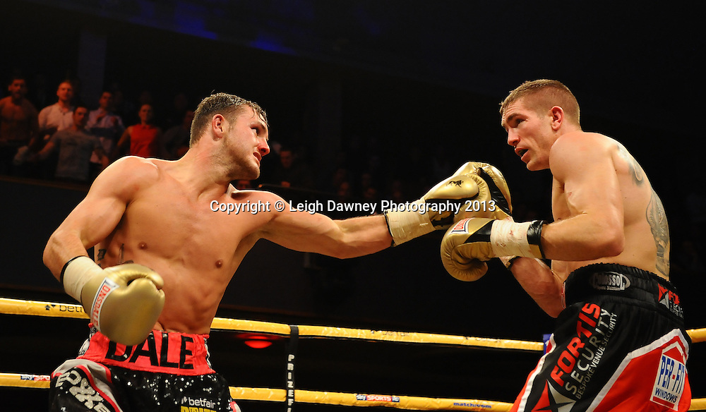 Dale Evans defeats Mark Thompson in Semi Final One at Welterweights 111, Civic Hall Wolverhampton. on the 19th January 2013. Matchroom Sport/ Prizefighter © Leigh Dawney 2013
