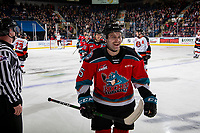 KELOWNA, BC - NOVEMBER 8:  Kobe Mohr #25 of the Kelowna Rockets celebrates scoring a first period goal against the Medicine Hat Tigers at Prospera Place on November 8, 2019 in Kelowna, Canada. (Photo by Marissa Baecker/Shoot the Breeze)
