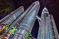 Maxis Tower (left) & Petronas Twin Towers