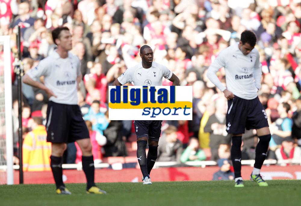 20120226: LONDON, UK - Barclays Premier League 2011/2012: Arsenal vs Tottenham.<br /> In photo: Tottenhams Ledley King looks on dejected.<br /> PHOTO: CITYFILES