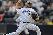 Mississippi's David Goforth pitches vs. LSU at Oxford-University Stadium on Sunday, April 25, 2010 in Oxford, Miss. Ole Miss won 7-6 to sweep the three game series
