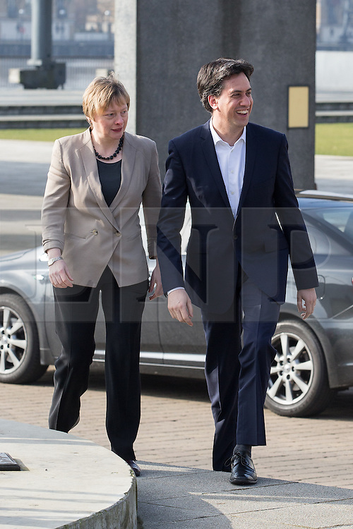 """© Licensed to London News Pictures . 01/03/2014 . London , UK . Angela Eagle and Ed Miliband arrive at the conference . The Labour Party hold a one day """" Special Conference """" at the Excel Centre in London today (Saturday 1st March 2014) . Photo credit : Joel Goodman/LNP"""