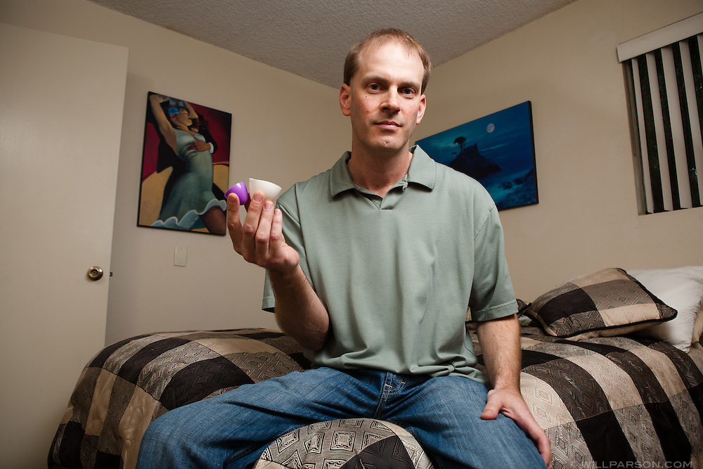 Matthew Hess holds an unused foreskin restoration device. Hess has submitted bills to state and national assemblies proposing a revision to genital mutilation bills to make them gender neutral.
