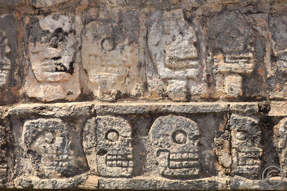 The historic Mayan site of Chichen Itza on the Yucatan Peninsula of Mexico, Central America.