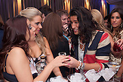 SERVING VODKA SHOTS TO OLLIE LOCKE; The London Bar and Club awards. Intercontinental Hotel. Park Lane, London. 6 June 2011. <br /> <br />  , -DO NOT ARCHIVE-© Copyright Photograph by Dafydd Jones. 248 Clapham Rd. London SW9 0PZ. Tel 0207 820 0771. www.dafjones.com.