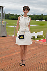 LAURA JACKSON at the Audi Polo Challenge at Coworth Park, Blacknest Road, Ascot, Berkshire on 31st May 2015.
