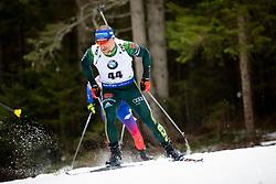 Erik Lesser (GER) in action during the Pursuit Men 12,5 km at day 8 of IBU Biathlon World Cup 2018/19 Pokljuka, on December 9, 2018 in Rudno polje, Pokljuka, Pokljuka, Slovenia. Photo by Urban Urbanc / Sportida