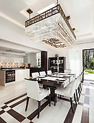 architecture, modern house, beautiful interiors, dining room