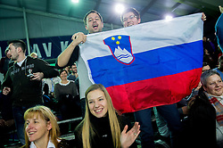 Supporters during 4th match of Davis cup Slovenia vs. Portugal on February 2, 2014 in Kranj, Slovenia. Photo by Vid Ponikvar / Sportida