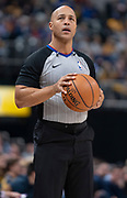INDIANAPOLIS, IN - FEBRUARY 09: NBA referee Marc Davis #8 is seen during the Indiana Pacers and Cleveland Cavaliers game at Bankers Life Fieldhouse on February 9, 2019 in Indianapolis, Indiana. NOTE TO USER: User expressly acknowledges and agrees that, by downloading and or using this photograph, User is consenting to the terms and conditions of the Getty Images License Agreement. (Photo by Michael Hickey/Getty Images) *** Local Caption *** Marc Davis