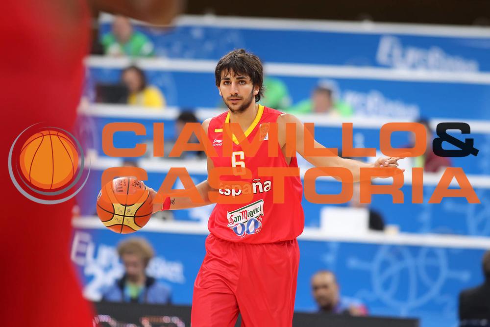 DESCRIZIONE : Panevezys Lithuania Lituania Eurobasket Men 2011 Preliminary Round Spagna Portogallo Spain Portugal<br /> GIOCATORE : Ricky Rubio<br /> SQUADRA : Spagna Spain<br /> EVENTO : Eurobasket Men 2011<br /> GARA : Spagna Portogallo Spain Portugal <br /> DATA : 01/09/2011 <br /> CATEGORIA : palleggio<br /> SPORT : Pallacanestro <br /> AUTORE : Agenzia Ciamillo-Castoria/ElioCastoria<br /> Galleria : Eurobasket Men 2011 <br /> Fotonotizia : Panevezys Lithuania Lituania Eurobasket Men 2011 Preliminary Round Spagna Portogallo Spain Portugal<br /> Predefinita :