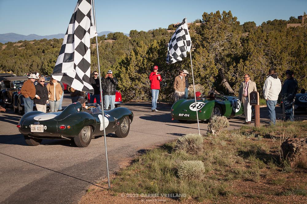 Participants arrive for the Mountain Tour at Arroyo Vino, part of the 2013 Santa Fe Concorso.