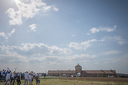 "12.04.2018, Konzentrationslager Auschwitz, Oswiecim, POL, ""March of the living"" am Weg aus dem ehemaligen deutschen Nazi-Todeslager Auschwitz I nach Auschwitz II - Birkenau, im Bild das Konzentrationslager Auschwitz-Birkenau// during the 'March of the Living' from the former German Nazi death camp Auschwitz I to Auschwitz II - Birkenau at the concentration camp in Oswiecim, Poland on 2018/04/12. EXPA Pictures © 2018, PhotoCredit: EXPA/ Florian Schroetter"