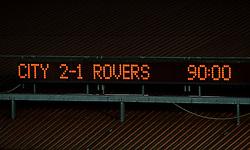 The scoreboard shows the end result with Bristol City winning 2-1  - Photo mandatory by-line: Rogan Thomson/JMP - Tel: 07966 386802 - 04/09/2013 - SPORT - FOOTBALL - Ashton Gate, Bristol - Bristol City v Bristol Rovers - Johnstone's Paint Trophy - First Round - Bristol Derby