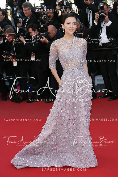 CANNES, FRANCE - MAY 25:  Zhang Ziyi attends the Premiere of 'La Venus A La Fourrure' at The 66th Annual Cannes Film Festival on May 25, 2013 in Cannes, France.  (Photo by Tony Barson/FilmMagic)