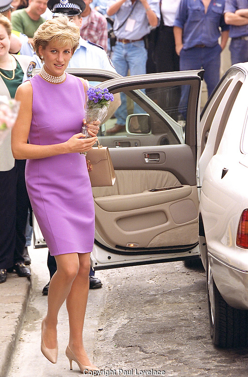 Princess Diana visits Sydney, Australia 1996. . An instant sale option is available where a price can be agreed on image useage size. Please contact me if this option is preferred.
