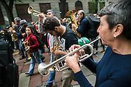 Milano, 1° maggio 2015. Mayday contro Expo 2015. Bande musicali.