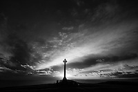 What your soul sings - Evening light at the Tennyson memorial, Freshwater, Isle of Wight