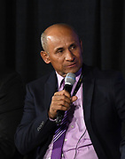 Nicaragua coach Henry Duarte during CONCACAF Gold Cup groups unveiling news conference, Wednesday, April 10, 2019, in Los Angeles.